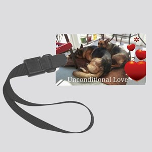 Unconditional Love Large Luggage Tag