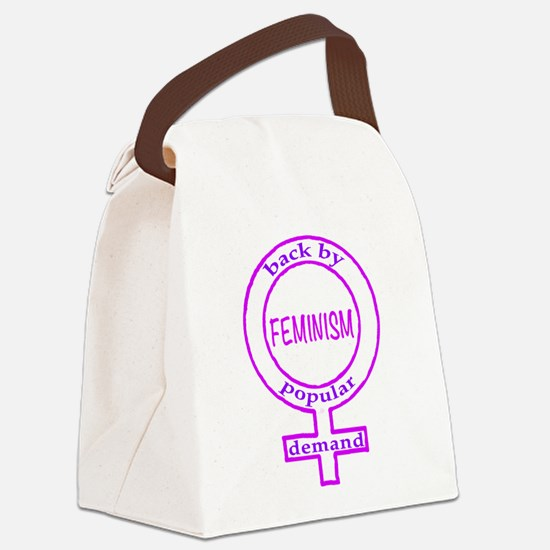Feminism is back in dk Canvas Lunch Bag