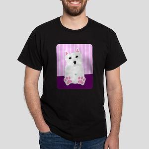 West Highland White Terrier Puppy Dark T-Shirt