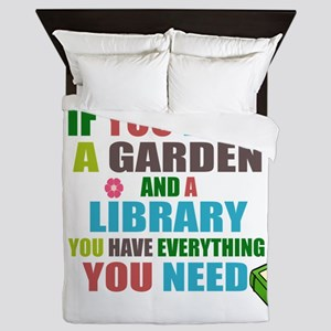 If you have a garden and a Library Queen Duvet
