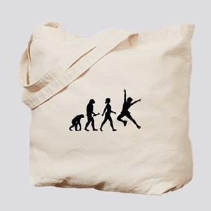 Ice Skater Evolution Tote Bag