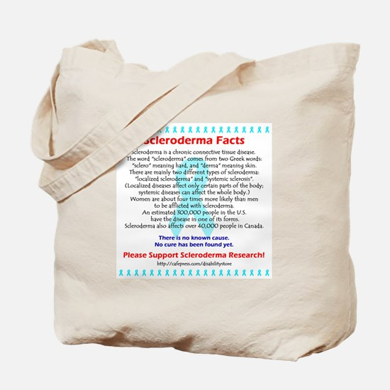 """""""Scleroderma Facts"""" Tote Bag"""