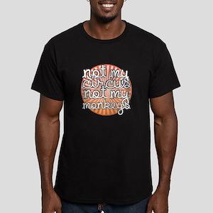 Not My Circus Men's Fitted T-Shirt (dark)