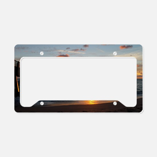 Unique Atlantic ocean License Plate Holder