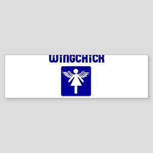 WINGMAN FOR GIRLS SHIRT WING Bumper Sticker
