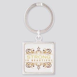 Strong is Beautiful Square Keychain