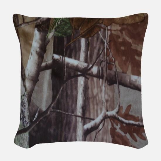 Camo 1 Woven Throw Pillow