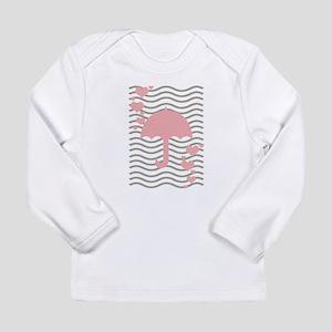 Pink Umbrella Hearts Long Sleeve T-Shirt