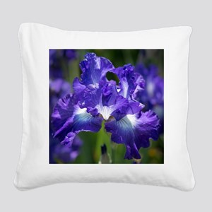 iris garden Square Canvas Pillow