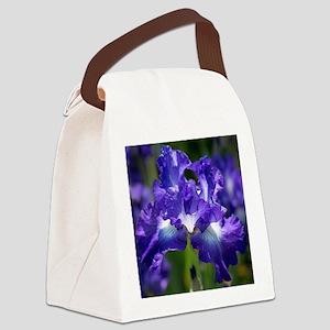 iris garden Canvas Lunch Bag