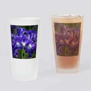 iris garden Drinking Glass