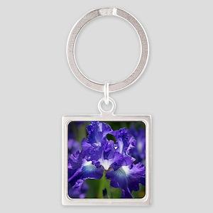iris garden Square Keychain