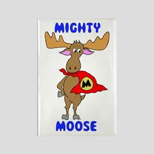 Mighty Moose Rectangle Magnet