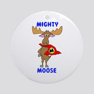 Mighty Moose Ornament (Round)