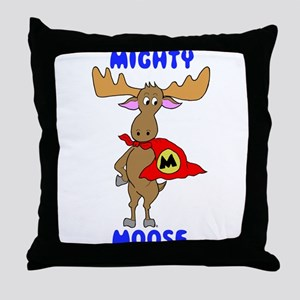 Mighty Moose Throw Pillow