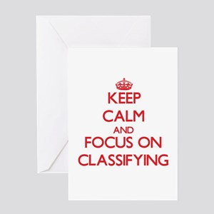Keep Calm and focus on Classifying Greeting Cards