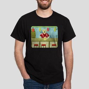 Yellow Labrador Retriever Tiki Bar Dark T-Shirt