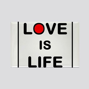 OYOOS Love Is Life design Magnets
