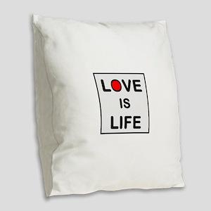 OYOOS Love Is Life design Burlap Throw Pillow