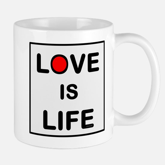 OYOOS Love Is Life design Mugs