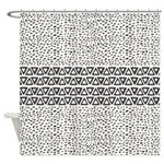 Aztec Black And White Shower Curtain
