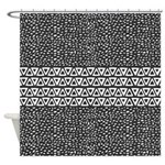 Aztec Wind And Triangles Shower Curtain