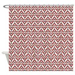 Peaks And Sunsets Chevron Shower Curtain