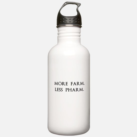 More Farm, Less Pharm Water Bottle