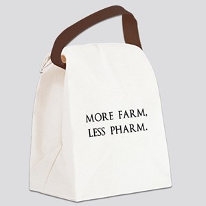 More Farm, Less Pharm Canvas Lunch Bag
