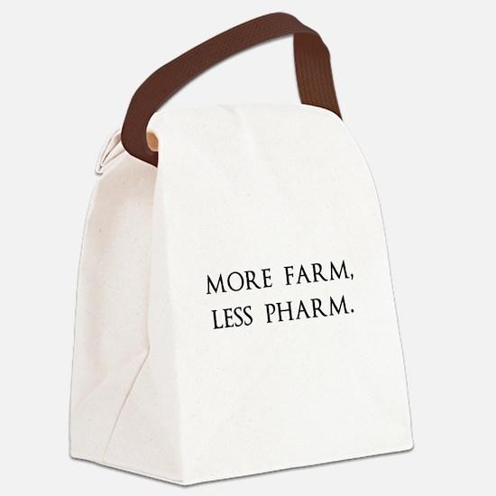 More Farm, Less Pharm Canvas Lunch Bag