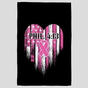 Breast Cancer Phil 4:13 4' x 6' Rug