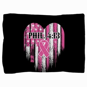 Breast Cancer Phil 4:13 Pillow Sham
