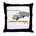 Large Marge Dark Design Throw Pillow