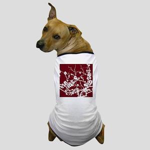 abstract zen artistic plum flower flor Dog T-Shirt