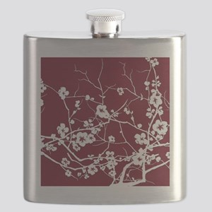 abstract zen artistic plum flower floral Flask