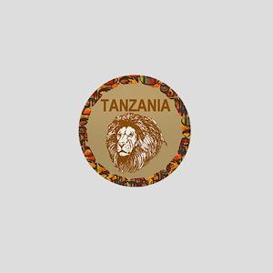 Tanzania With Lion Mini Button