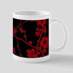 abstract zen artistic plum flower floral Mugs