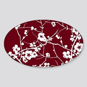 abstract zen artistic plum flower floral Sticker