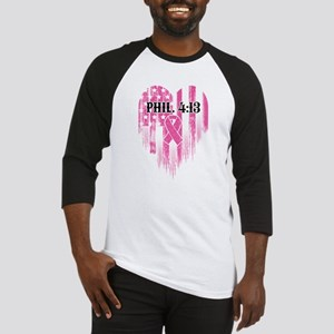 Breast Cancer Phil 4:13 Baseball Tee