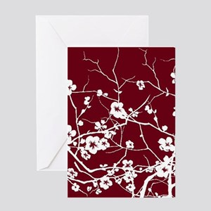 abstract zen artistic plum flower floral Greeting