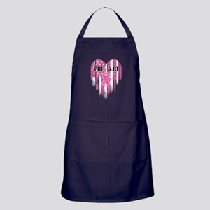 Breast Cancer Phil 4:13 Apron (dark)