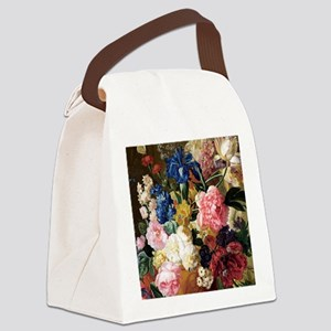 elegant vintage flowers nature fl Canvas Lunch Bag