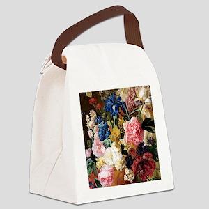 elegant vintage flowers nature fl Canvas Lunch Bag