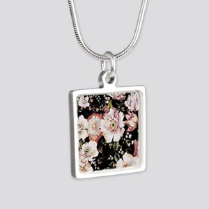 elegant vintage flowers nature floral art Necklace