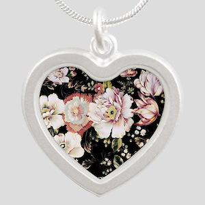 elegant vintage flowers nature floral art Necklace