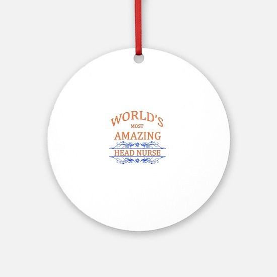 Head Nurse Round Ornament