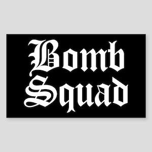 Bomb Squad Rectangle Sticker