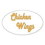 Chicken Wings Sticker (Oval 10 pk)