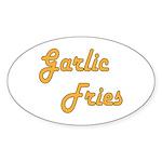 Garlic Fries Sticker (Oval 50 pk)