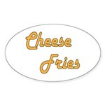 Cheese Fries Sticker (Oval 10 pk)